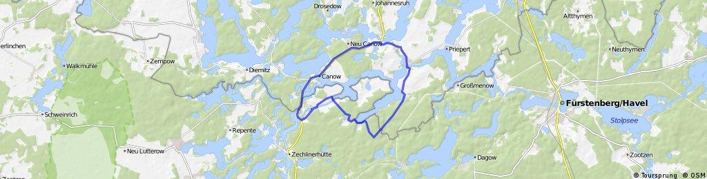 Pälitzsee - Route
