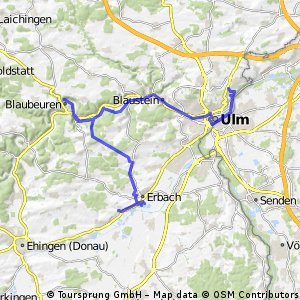 Etappe 1  Ulm Donaurieden 50 km