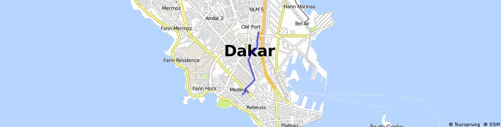 Brief ride through Dakar
