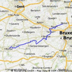Brussegem - Ronse via Ninove