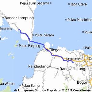 touring Citra Raya - Merak Belantung Lampung