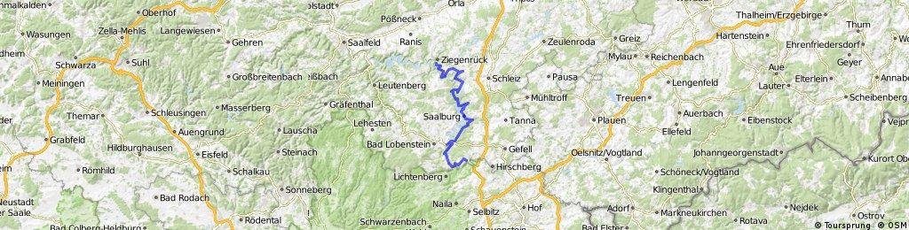 Saale 1, Pottiga-Ziegenück