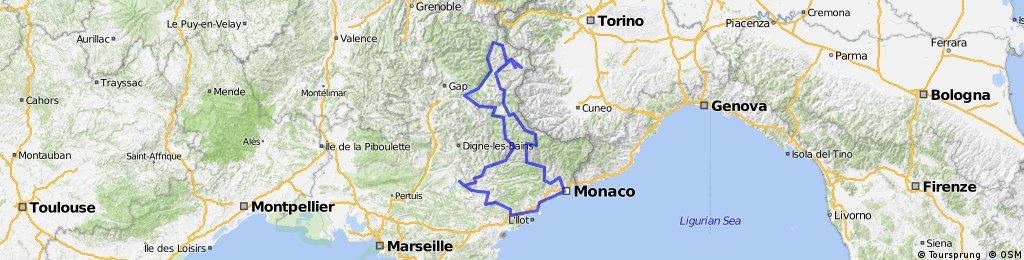 Francia- és Provence Alpok, Cote d'Azur