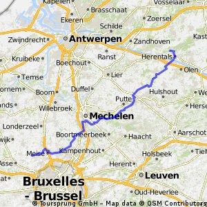 Brussegem - Herentals via Grote Markt Herentals