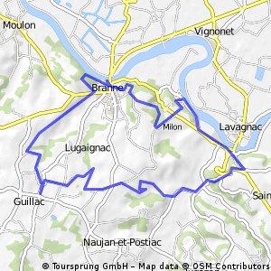 bike tour through Guillac