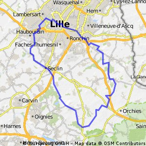 Cycling routes and bike maps in and around Lille Bikemap Your