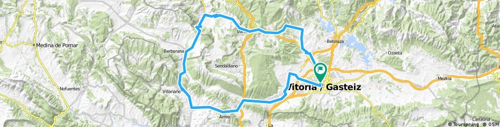 Vitoria-Abetxuko-Mendiguren-Gopegi-Manurga-Zárate-Murgia-Gujuli-Orduña-Pto. Orduña-ANGOSTO-Añana-Pobes-Nanclares-Vitoria