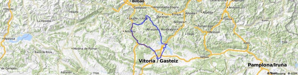 Vitoria-Abetxuko-Mendiguren-Zaitegi-Alto Aiurdin-Altube-Orozko-Pto de Bikotx-ARTEA-Dima-Alto Dima-Otxandio-Landa-Vitoria