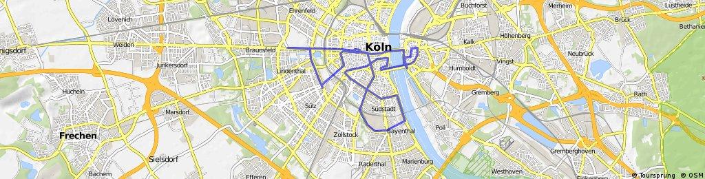 160227 Ausfahrt durch Köln