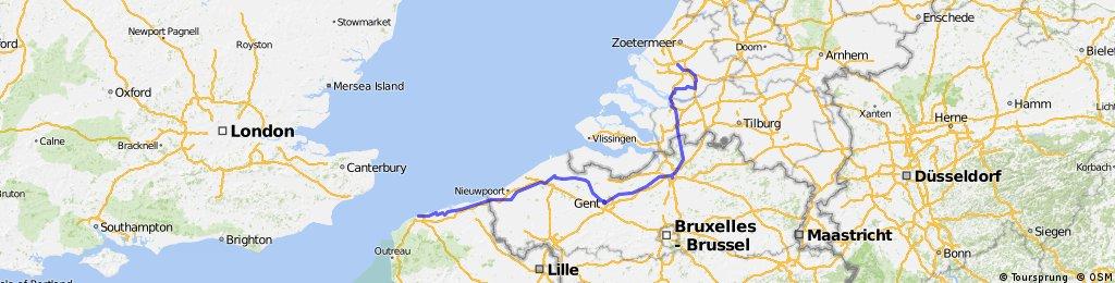Calais - Brugge - Gent - Antwerp - Rotterdam
