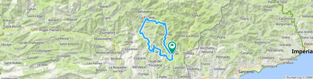 AlpesMaritimes15/1.Etappe: Sospel - Braus- Ablé - Orme - Lucéram - St.Roch - Porte - Lantosque - Turini - Sospel
