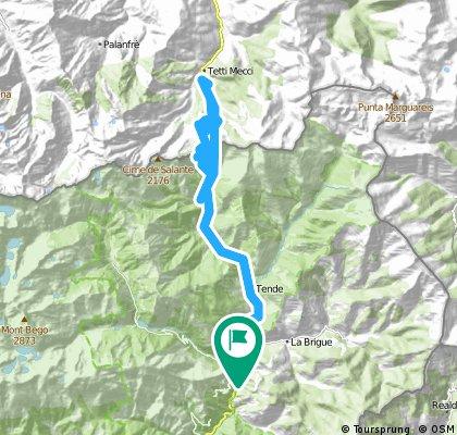 AlpesMaritimes15/3.Etappe: St.Dalmas-de-Tende - Tende - Col de Tende/Colle di Tenda - Limone Piemonte - Tenda-Tunnel - St.Dalmas-de-Tende