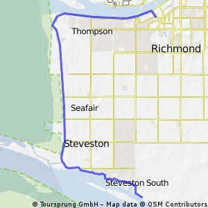 Oct 24 ride.  Steveston to Olympic Oval