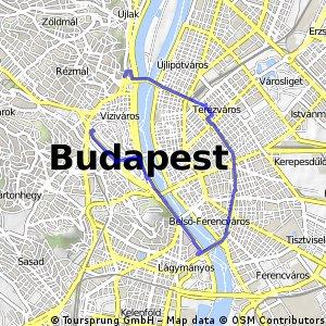 ride through Budapest