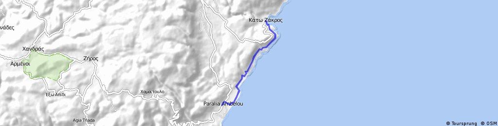 Kreta 60 Kato Zakros nach Xerokambos