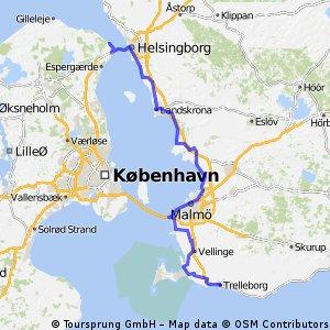 Dänemark-/Schweden-Tour Teil 4 (Helsingør - Trelleborg 138,27 km)