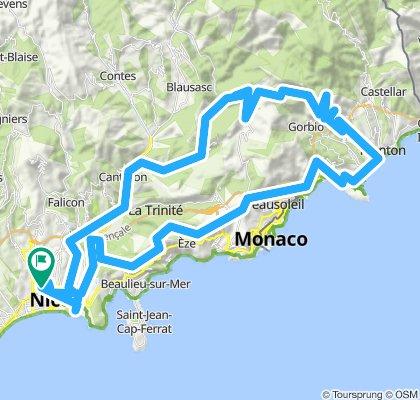 AlpesMaritimes'15/5.Etappe: Nizza - Col d'Eze - Grande Corniche - Menton - Col de la Madone - Peille - Nizza