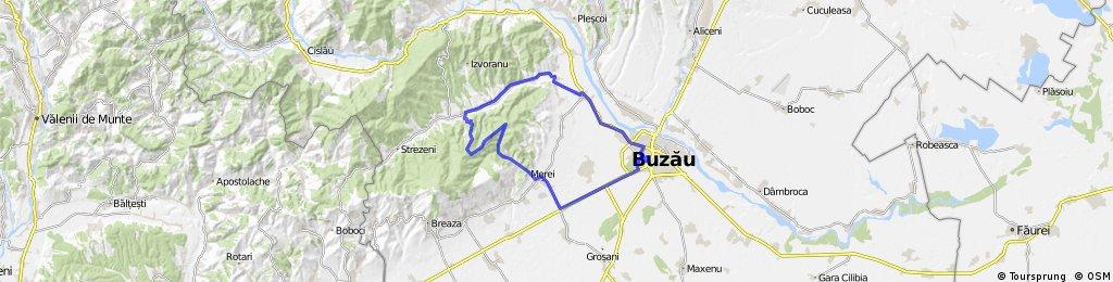 Buzau - Sarata Monteoru - Leiculesti - Valea Salciilor - Buzau