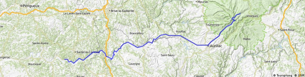 C: Lavigerie (pas de peyrol) - Saint-Vincent-de-Cosse, 3. Etappe: Genf - Bordeaux