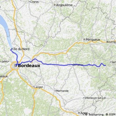 Genf-Bordeaux, 4.Etappe: St.Vincent-de Cosse-Bordeaux-Margaux