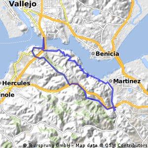 Lengthy bike tour through Martinez