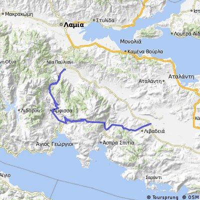 Bralos - Amfissa - Delphi - Arahoba - Leivadia