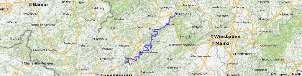 Moselradweg Trier - Koblenz