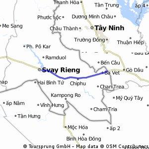 Moc Bai Border Crossing to Svay Rieng