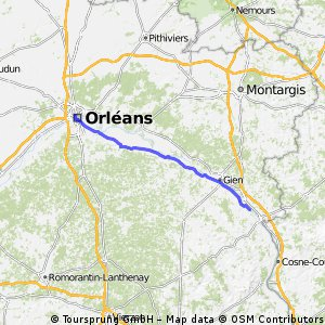 Orleans to Ousson-S-Loire
