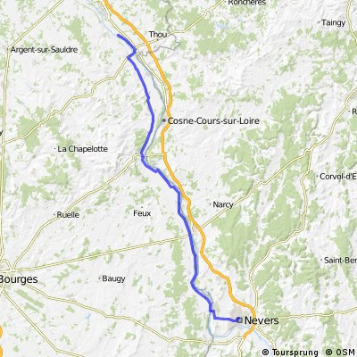 Ousson-s-Loire to Nevers off road