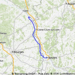 Ousson-s-Loire to Nevers