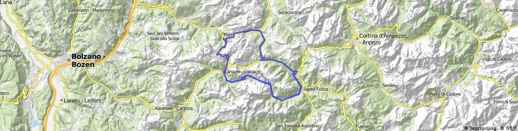 Colfosco-Campolongo-Fedaia-Sella-Gardena-Colfosco