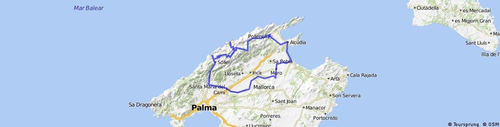 Alcudia - Soller - Alcudia