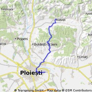 Bălțești -Ploiesti, cea mai scurta rută