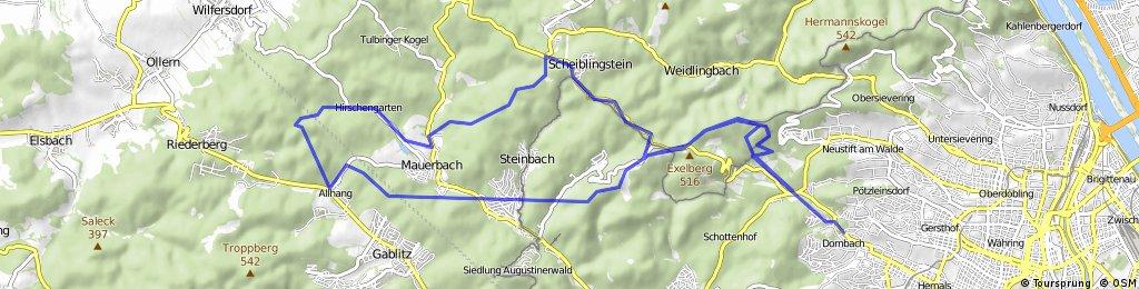 Neuwaldegg Mostalm Augustinerwald Gablitz Allhang Hirschengarten Kartause Scheiblingstein Sophienalpe Hameau