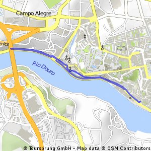 Cycling routes and bike maps in and around Vila Nova de Gaia