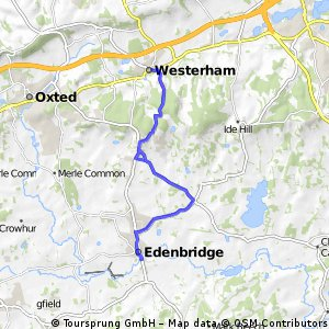 Edenbridge to weserham