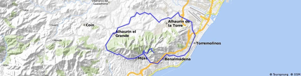 Repetidor de Mijas y rodear la Sierra de MIjas