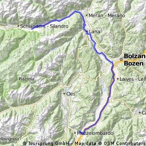 4 Tag Latsch - Meran - Bozen - Mezzocorona
