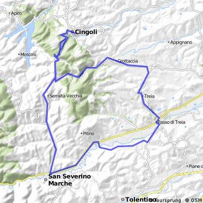 Passo Treia-S.Severino-Cingoli-Grottaccia-Passo Treia