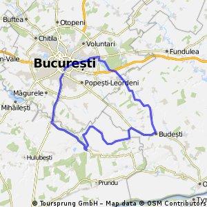 Bucuresti - 1 Decembrie - Comana - Budesti - Pantelimon - Bucuresti