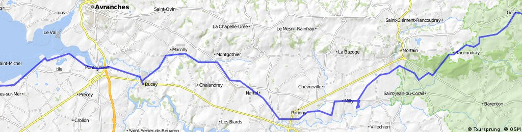 F: Day 6 Alternative Mont St Michel / Beauvoir to Ger