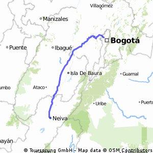 Bogotá-Neiva por La Mesa