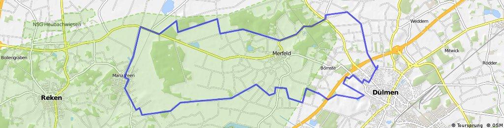 1 - Dülmen: Nordlandwehr - Maria Veen - Wildpark - 38,65 km