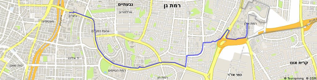 Brief ride from Giv'at Shmuel to Tel Aviv-Yafo
