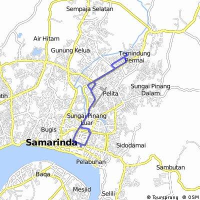 ride through Temindung Permai