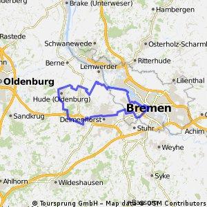 Hude Bremen ohne Weserwehr