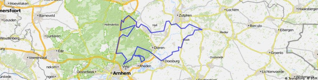 Lentetocht Vorden-Posbank Achtkastelenrijders 110km 2015