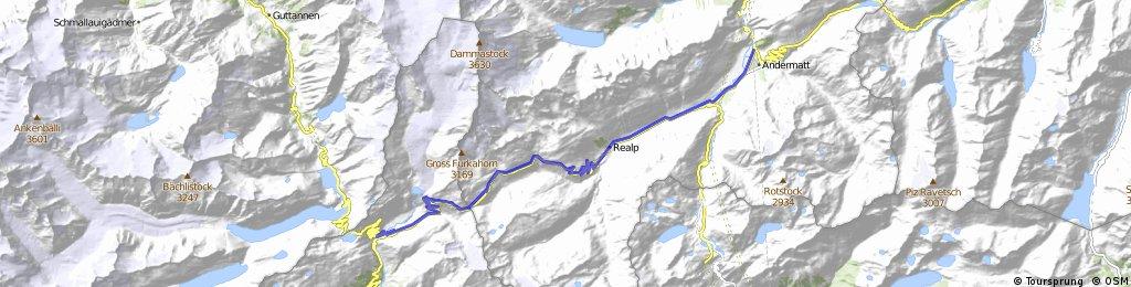 Cycling the Alps Furkapass (2429m)