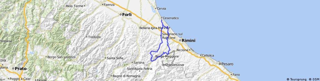Cesenatico-Ponteuso-Verucchio-Santarcangelo